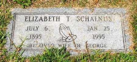 SCHALNUS, ELIZABETH T. - Garland County, Arkansas   ELIZABETH T. SCHALNUS - Arkansas Gravestone Photos