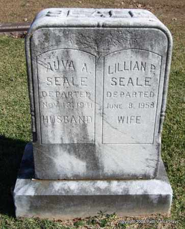 SEALE, AUVA A. - Garland County, Arkansas | AUVA A. SEALE - Arkansas Gravestone Photos