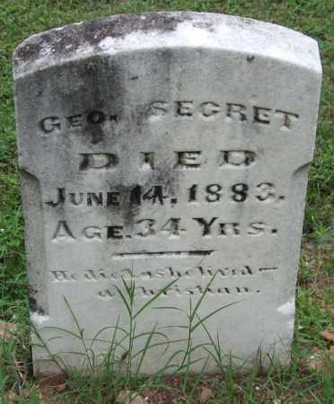 SECRET, GEORGE - Garland County, Arkansas | GEORGE SECRET - Arkansas Gravestone Photos