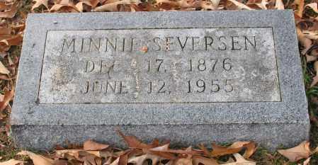SEVERSEN, MINNIE - Garland County, Arkansas | MINNIE SEVERSEN - Arkansas Gravestone Photos