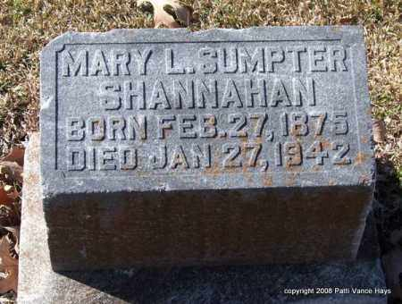 SHANNAHAN, MARY L. - Garland County, Arkansas | MARY L. SHANNAHAN - Arkansas Gravestone Photos
