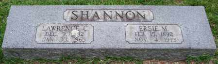 SHANNON, ERSIE M. - Garland County, Arkansas | ERSIE M. SHANNON - Arkansas Gravestone Photos