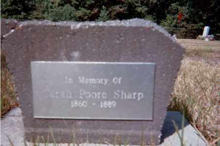 POOR SHARP, SARAH - Garland County, Arkansas | SARAH POOR SHARP - Arkansas Gravestone Photos