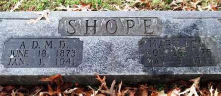 SHOPE, ANDREW D. - Garland County, Arkansas | ANDREW D. SHOPE - Arkansas Gravestone Photos