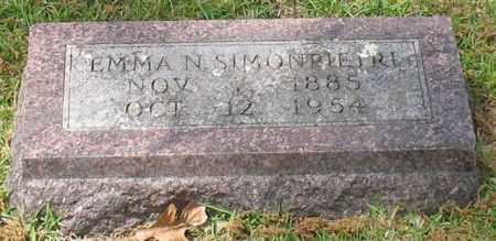 SIMONPIETRI, EMMA N. - Garland County, Arkansas | EMMA N. SIMONPIETRI - Arkansas Gravestone Photos