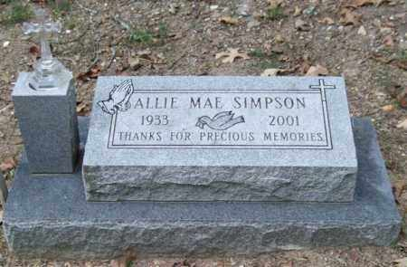 SIMPSON, ALLIE MAE - Garland County, Arkansas | ALLIE MAE SIMPSON - Arkansas Gravestone Photos