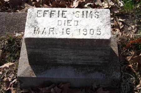SIMS, EFFIE - Garland County, Arkansas | EFFIE SIMS - Arkansas Gravestone Photos