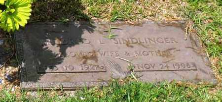 SINDLINGER, MILDRED L. - Garland County, Arkansas | MILDRED L. SINDLINGER - Arkansas Gravestone Photos