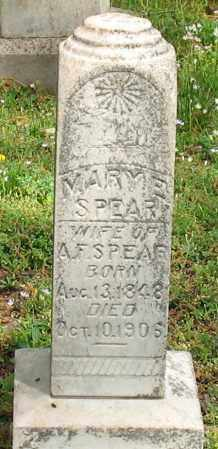 SPEAR, MARY E. - Garland County, Arkansas | MARY E. SPEAR - Arkansas Gravestone Photos