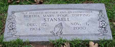 STANSELL, BERTHA MARY - Garland County, Arkansas | BERTHA MARY STANSELL - Arkansas Gravestone Photos