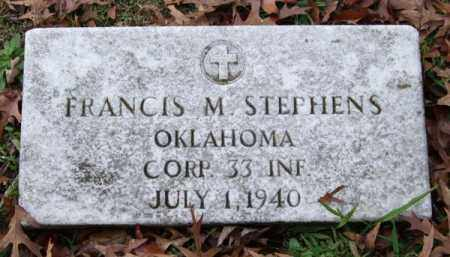 STEPHENS (VETERAN), FRANCIS M. - Garland County, Arkansas | FRANCIS M. STEPHENS (VETERAN) - Arkansas Gravestone Photos