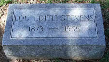 STEVENS, LOU EDITH - Garland County, Arkansas | LOU EDITH STEVENS - Arkansas Gravestone Photos