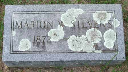 STEVENS, MARION W. - Garland County, Arkansas | MARION W. STEVENS - Arkansas Gravestone Photos