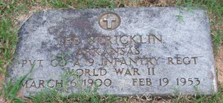 STRICKLIN (VETERAN WWII), LEE - Garland County, Arkansas | LEE STRICKLIN (VETERAN WWII) - Arkansas Gravestone Photos
