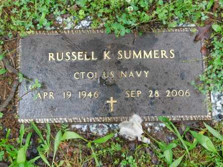 SUMMERS (VETERAN), RUSSELL K. - Garland County, Arkansas | RUSSELL K. SUMMERS (VETERAN) - Arkansas Gravestone Photos