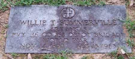 SUMMERVILLE (VETERAN WWI), WILLIE T. - Garland County, Arkansas | WILLIE T. SUMMERVILLE (VETERAN WWI) - Arkansas Gravestone Photos
