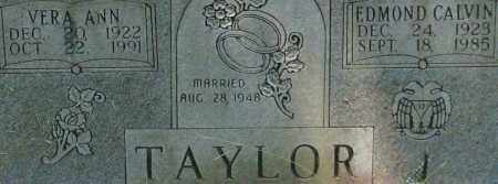 TAYLOR, EDMOND CALVIN (CLOSE UP) - Garland County, Arkansas | EDMOND CALVIN (CLOSE UP) TAYLOR - Arkansas Gravestone Photos