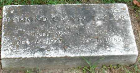 TAYLOR (VETERAN 2 WARS), EDMOND CALVIN - Garland County, Arkansas | EDMOND CALVIN TAYLOR (VETERAN 2 WARS) - Arkansas Gravestone Photos