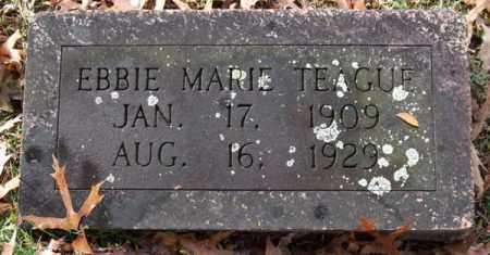 TEAGUE, EBBIE MARIE - Garland County, Arkansas | EBBIE MARIE TEAGUE - Arkansas Gravestone Photos