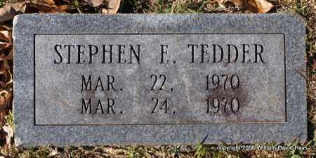 TEDDER, STEPHEN E. - Garland County, Arkansas | STEPHEN E. TEDDER - Arkansas Gravestone Photos