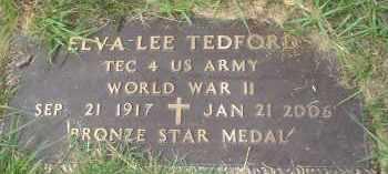 TEDFORD (VETERAN WWII), ELVA LEE - Garland County, Arkansas | ELVA LEE TEDFORD (VETERAN WWII) - Arkansas Gravestone Photos
