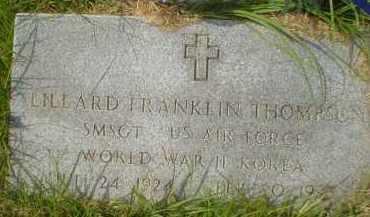 THOMPSON (VETERAN 2 WARS), LILLARD FRANKLIN - Garland County, Arkansas | LILLARD FRANKLIN THOMPSON (VETERAN 2 WARS) - Arkansas Gravestone Photos