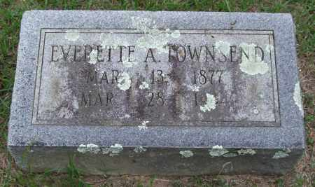 TOWNSEND, EVERETTE A. - Garland County, Arkansas | EVERETTE A. TOWNSEND - Arkansas Gravestone Photos