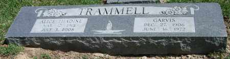 TRAMMELL, GARVIS - Garland County, Arkansas | GARVIS TRAMMELL - Arkansas Gravestone Photos