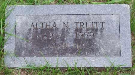 TRUITT, ALTHA N. - Garland County, Arkansas | ALTHA N. TRUITT - Arkansas Gravestone Photos