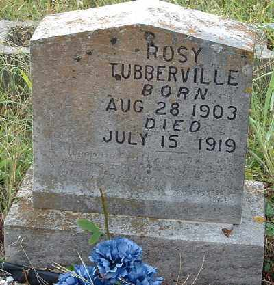 "TUBBBERVILLE, ROSA IRENA ""ROSY"" - Garland County, Arkansas 