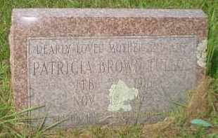 BROWN TULLOS, PATRICIA - Garland County, Arkansas | PATRICIA BROWN TULLOS - Arkansas Gravestone Photos