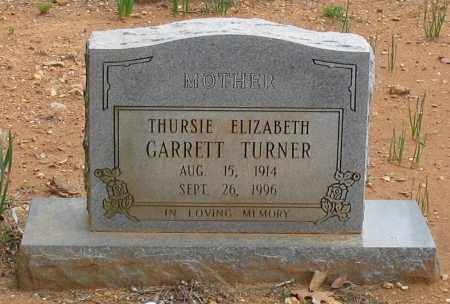GARRETT TURNER, THURSIE ELIZABETH - Garland County, Arkansas | THURSIE ELIZABETH GARRETT TURNER - Arkansas Gravestone Photos