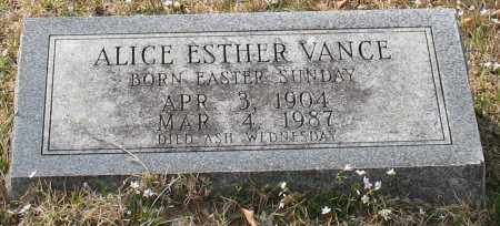 VANCE, ALICE ESTHER - Garland County, Arkansas | ALICE ESTHER VANCE - Arkansas Gravestone Photos