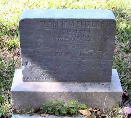 WACASTER, CLORINDA ELIZEBETH - Garland County, Arkansas | CLORINDA ELIZEBETH WACASTER - Arkansas Gravestone Photos