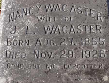 WACASTER, NANCY - Garland County, Arkansas | NANCY WACASTER - Arkansas Gravestone Photos