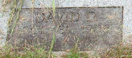 WALKER, DAVID D. (CLOSE UP) - Garland County, Arkansas | DAVID D. (CLOSE UP) WALKER - Arkansas Gravestone Photos