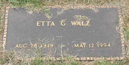 WALZ, ETTA G. - Garland County, Arkansas | ETTA G. WALZ - Arkansas Gravestone Photos