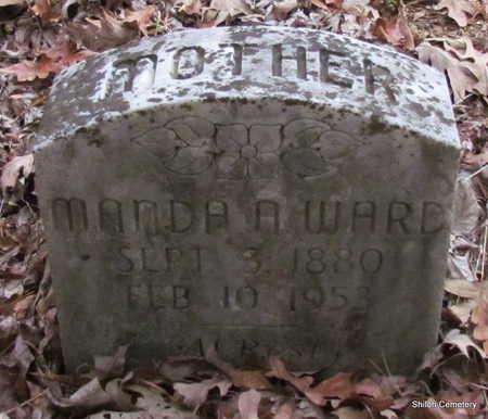 WARD, MANDA A. - Garland County, Arkansas | MANDA A. WARD - Arkansas Gravestone Photos
