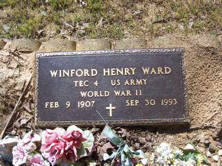WARD (VETERAN WWII), WINFORD HENRY - Garland County, Arkansas | WINFORD HENRY WARD (VETERAN WWII) - Arkansas Gravestone Photos