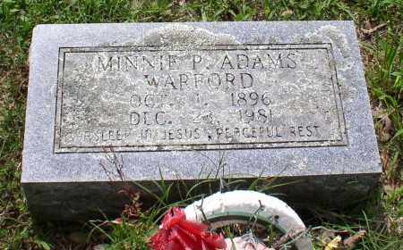 ADAMS WARFORD, MINNIE P. - Garland County, Arkansas | MINNIE P. ADAMS WARFORD - Arkansas Gravestone Photos