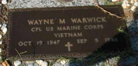 WARWICK (VETERAN VIET), WAYNE M. - Garland County, Arkansas | WAYNE M. WARWICK (VETERAN VIET) - Arkansas Gravestone Photos