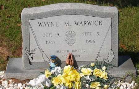 WARWICK (PUBLIC SERVANT), WAYNE M. - Garland County, Arkansas | WAYNE M. WARWICK (PUBLIC SERVANT) - Arkansas Gravestone Photos