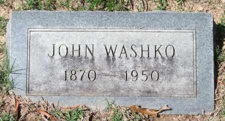 WASHKO, JOHN - Garland County, Arkansas | JOHN WASHKO - Arkansas Gravestone Photos