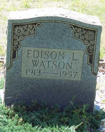 WATSON, EDISON E. - Garland County, Arkansas | EDISON E. WATSON - Arkansas Gravestone Photos
