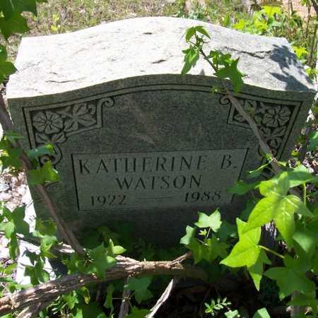 WATSON, KATHERINE B - Garland County, Arkansas | KATHERINE B WATSON - Arkansas Gravestone Photos