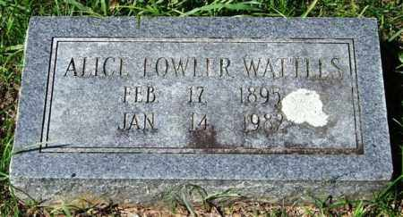 WATTLES, ALICE - Garland County, Arkansas | ALICE WATTLES - Arkansas Gravestone Photos