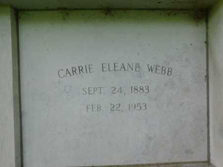 WEBB, CARRIE ELEANE - Garland County, Arkansas | CARRIE ELEANE WEBB - Arkansas Gravestone Photos