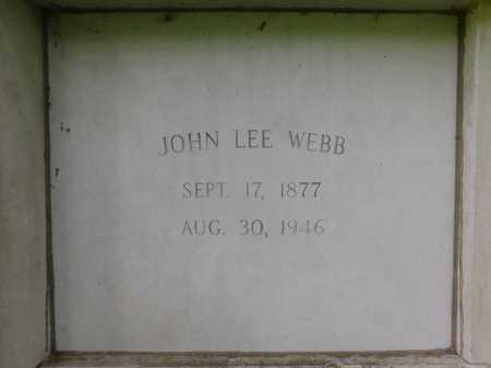 WEBB, JOHN LEE - Garland County, Arkansas | JOHN LEE WEBB - Arkansas Gravestone Photos