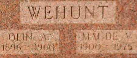 WEHUNT, MAUDE V. (CLOSE UP) - Garland County, Arkansas | MAUDE V. (CLOSE UP) WEHUNT - Arkansas Gravestone Photos