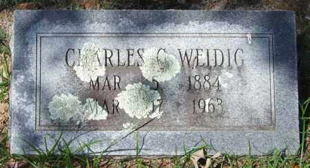 WEIDIG, CHARLES C. - Garland County, Arkansas | CHARLES C. WEIDIG - Arkansas Gravestone Photos